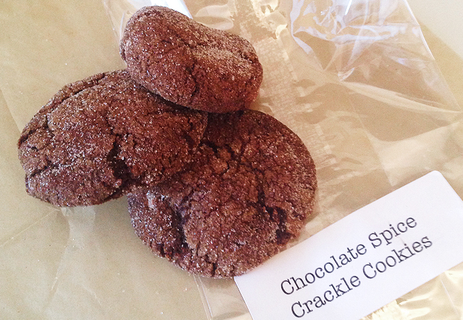 Chocolate Spice Crackle Cookies | Anthony Leberto Catering