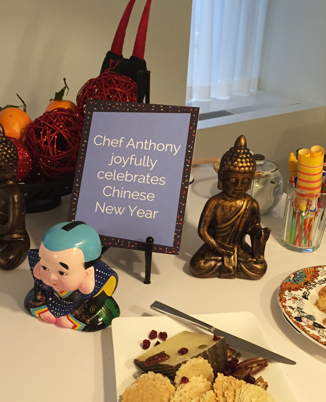 Chinese New Year afternoon tea menu | Anthony Leberto Catering