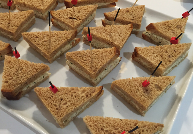 Chinese Chicken Salad Tea Sandwiches | Anthony Leberto Catering