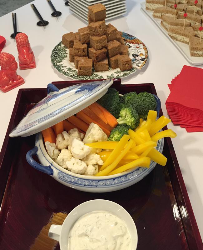 Crudite for Chinese New Years tea | Anthony Leberto Catering
