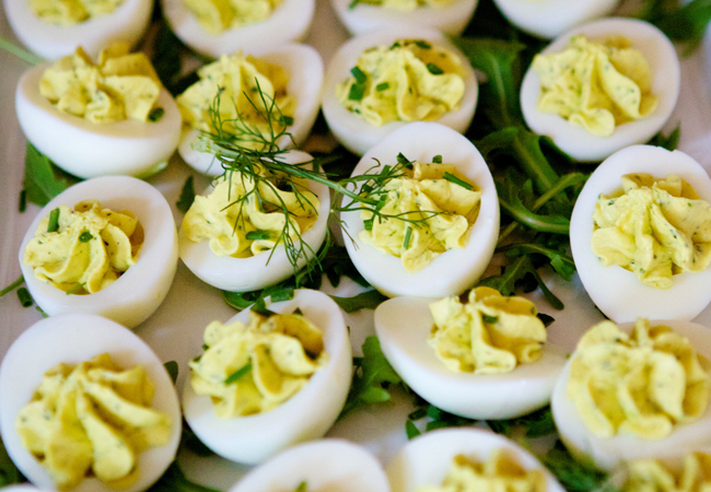 Curried deviled egg recipe / Anthony Leberto Catering
